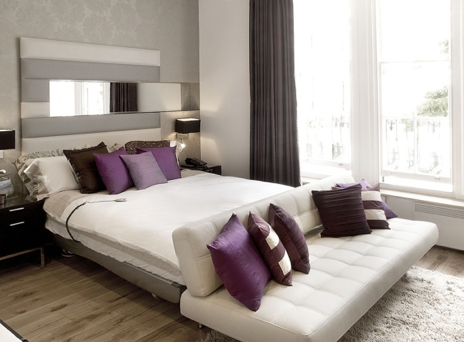 Creative ideas for studio apartments nest dc - Modern purple bedroom colors ...